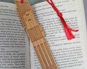 Star Wars Darth Vader Lightsaber Bookmark with Tassel - Laser Engraved Alder Wood - Light Saber Book Mark