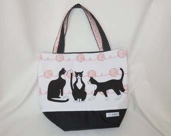Extra Large Tote Bag // Pretty Kitties