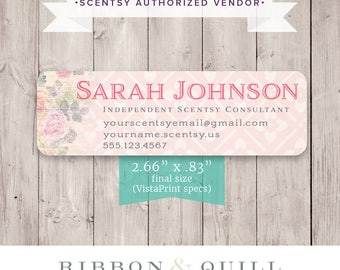 Authorized Scentsy Vendor • Scentsy Catalog Label Sticker - Rustic Rose - DIGITAL FILE ONLY