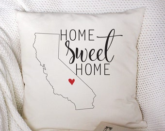 Custom State Pillow, Wedding Pillow, Custom Pillow, Personalized Pillow, Home Decor