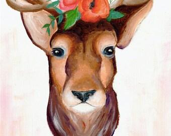 Floral Deer Original