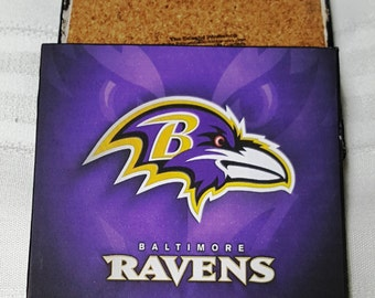 Baltinore Ravens Ceramic Tile Drink Coasters / Set of 4