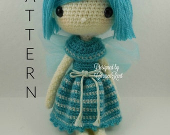 "Fairy Kathy 13""-Amigurumi Doll Crochet Pattern"