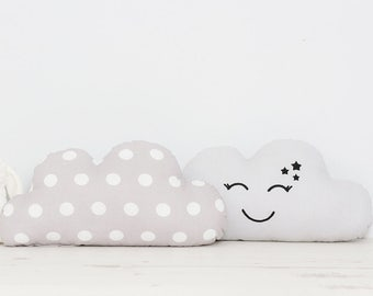 SET of two Cute baby Cloud pillows great for baby boy or baby girl room