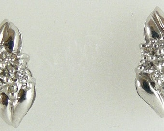 Diamond Earring 0.13ct 14k White Gold