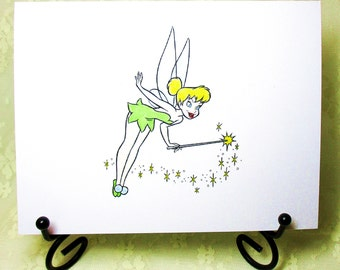 Tinkerbell Card: Add a Greeting or Leave Blank