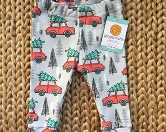 Organic Cotton Christmas Tree/Car Leggings
