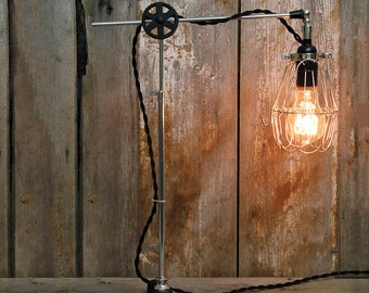 industrial table lamp with an edison bulb is it an industrial desk lamp or a steampunk