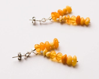 Natural baltic amber earrings 2,6 g