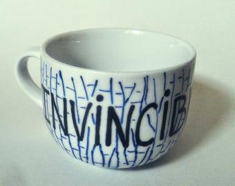 INVINCIBLE mug coffee mug custom mug mug tree hand painted mug coffee lover tea chocolat gift idea birthday gift mug lover christmas gift