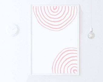 Blush Pink Art Print, Pink Modern Art, Pink Decor, Pink Printable Abstract Art, Simple Decor, Pink Minimalist Decor Digital Download, 18x24