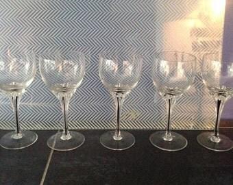 Belfor, vintage, wine Tchecoslavaquie glass, cut to Exquisite wine
