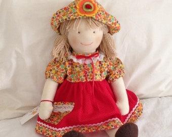 tela.57cm-22.5inchs wrist. waldorf. handmade dolls. fabric dolls. cloth rag doll.muneca