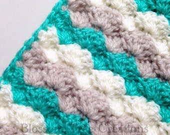 Made to order crochet shell stitch baby blanket throw