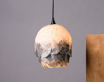 Ceiling Light Lamp, Ceiling Paper Lamp, Nordic Decor, Paper Lampshade, Silver Lamp shade, Hanging Lamp, Housewarming Gift