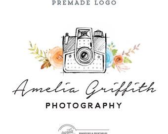 Premade Photography Logo design, Custom logo design branding, Premade Floral Logo Design, Photography Logo Branding, Photography watermark