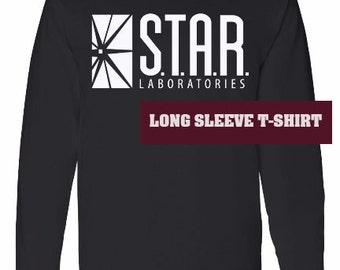 SALE - STAR Laboratories long sleeve t-shirt - Team Flash - STAR Labs - star laboratories tee shirt - star lab hoodie