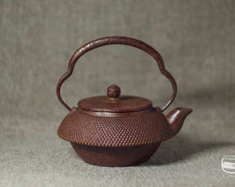 Tetsubin - Japanese iron Teapot, Nanbu Tekki - vintage handmade *0539