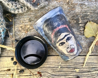 Frida coffee travel mug ceramic