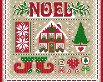 Noel Christmas Sampler Cross Stich Chart PDF