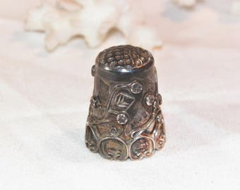 Sterling Silver Thimble, 925 Ornate Thimble, Sterling Silver Decorative Thimble, Collectible Thimble, Unique Thimble, Real sterling Silver