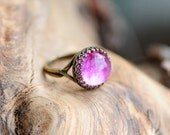 Real flower ring, Orchid, resin jewelry, adjustable ring, nature inspired, gift for her, botanical jewelry
