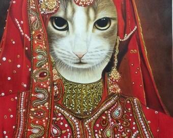 Custom Cat portrait, Pet portrait, Cat Painting, Custom Cat Painting, cat painting gift, cat lover gift, cat painting custom, commission cat