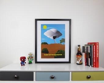Flight of The Navigator Print, Minimalist Movie Poster