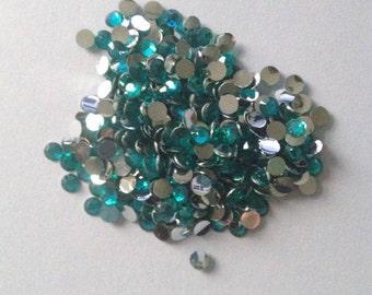 800 Gems 4mm Turquoise Teal Coral Rhinestone gems resin flatback flat back scrapbook embellishment