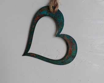 Patina Heart Ornament