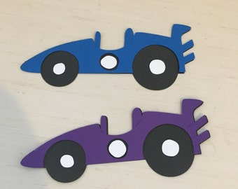 6 Race Car Die Cuts only - available in several colors