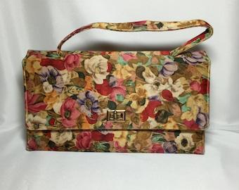 Vintage Floral Print Handbag
