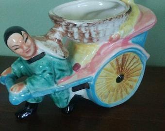 Vintage Planter -Rickshaw