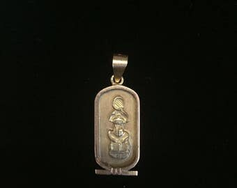 16K Yellow Gold Egyptian Scarab Pendant, weight 2.8 grams