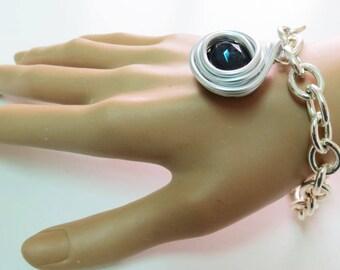 Blue Jewelry, Blue Bracelet, Blue Silver Jewelry, Blue Silver Bracelet, Royal Blue Jewelry, Royal Blue Bracelet, Bohemian Silver Bracelet,