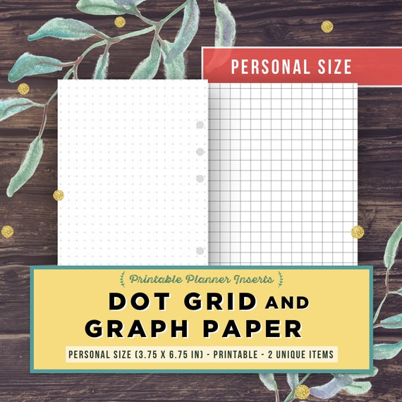 Bullet Journal Template DOT GRID GRAPH paper Personal Size – Dot Paper Template