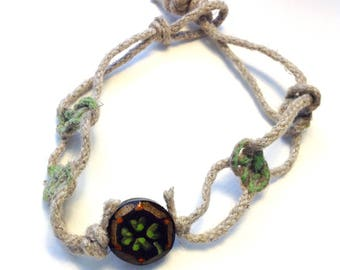 Irish Knot hemp bracelet