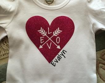 Valentines Heart Tee Glitter heart shirt Cute Valentines tee Valentines Shirt Valentine Love shirt v day shirt Valentines Love tee heart