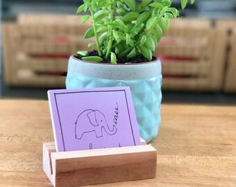 Mindful Moments Savor and Share Decks with Handcrafted Redwood Holder • Mindful Message Deck • Meditation Deck