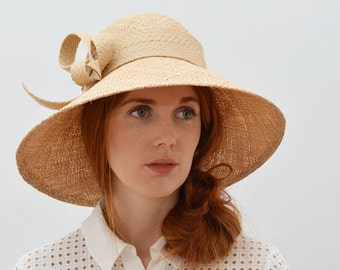 Straw Hat with Wide Brim