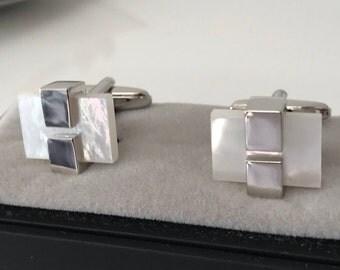 Silver Square CuffLinks - Ideal gift or Wedding Best Man Present