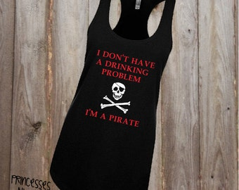 Drinking Pirate Tank - Pirate's Life - Skull and Bones