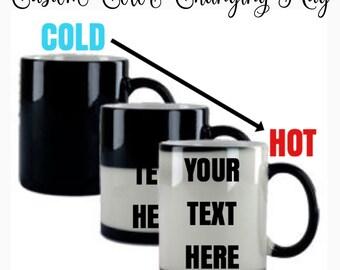 Color Changing Mug, Magic Mug, Proposal Idea, Birth Announcement Idea, Gender Reveal, Funny Mug, Photo Prop