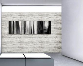 ABSTRACT PAINTING  - Painting Original Canvas Art Contemporary Absract Modern Art 20x60inch