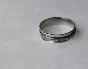 Small  Silver Spinner Ring
