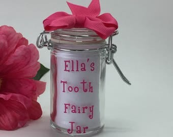 Personalized Tooth Fairy Jar