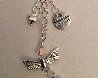 Someone Special, Dragonfly and Heart Bag Charm