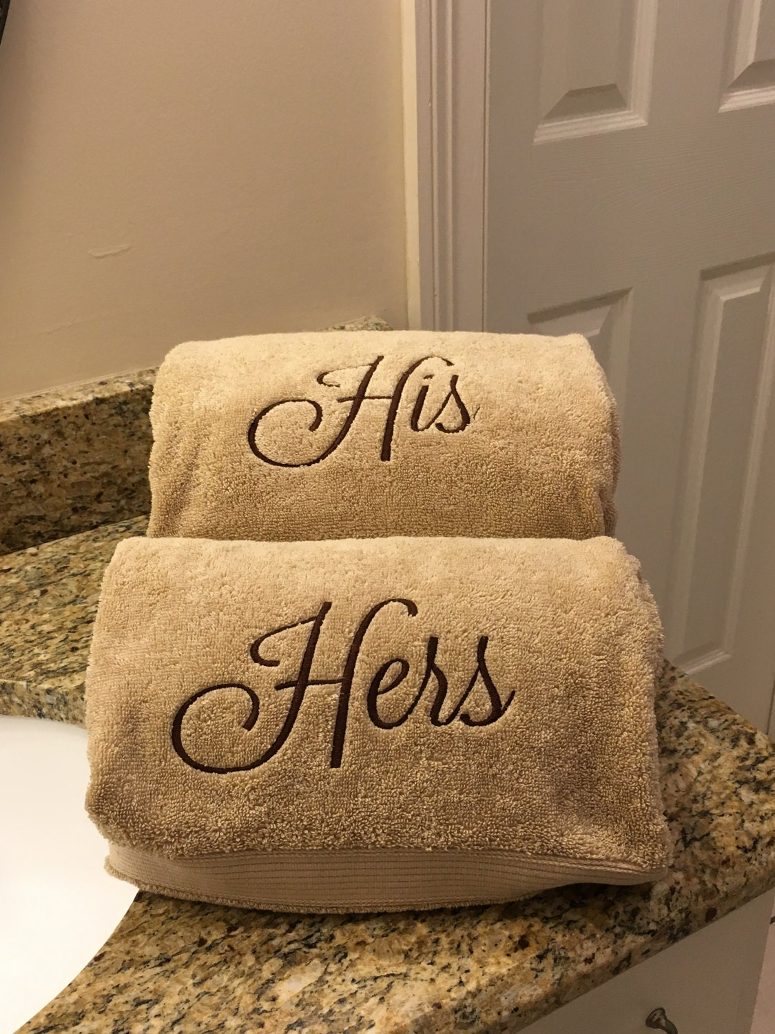 his and hers towels monogrammed towels monogrammed gifts