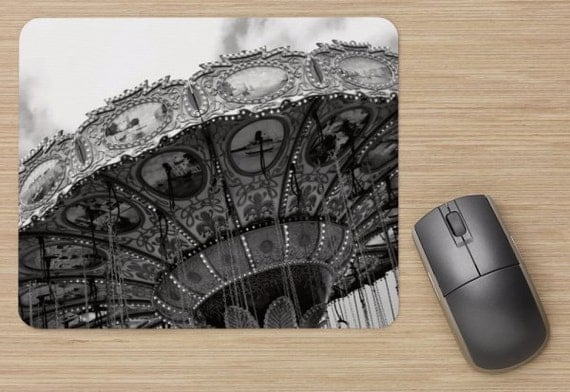 Carnival Mouse Pad - Swings Mousepads - Computer Mat - Office Accessories - Office Decor - Desk Accessories - Office Gifts