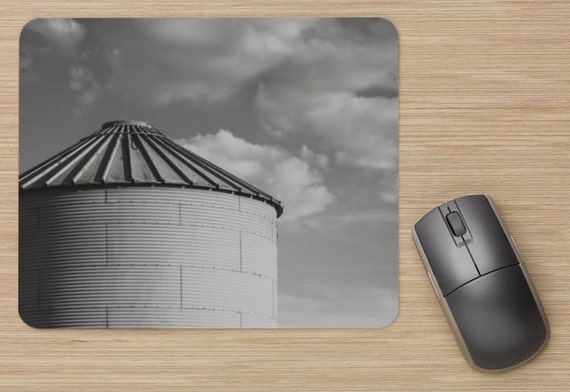 Silo Mouse Pad - Farm Mousepads - Clouds Computer Mat - Office Accessories - Office Decor - Desk Accessories - Office Gifts